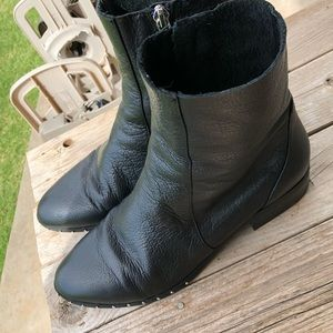 Topshop Klash Leather Sock Boots Booties